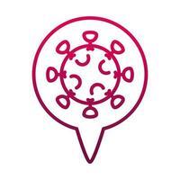 coronavirus ill prevent spread of covid19 gradient icon vector