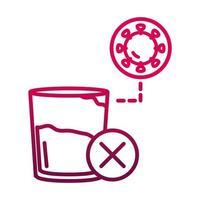 protective measures against coronavirus prevent the spread of covid19 gradient icon vector