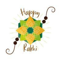 raksha bandhan traditional indian wristband symbol of love between brothers and sisters vector