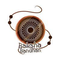 raksha bandhan traditional bracelet of love brothers and sisters indian festival vector