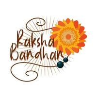raksha bandhan traditional indian bracelet bonding celebration brothers and sisters vector