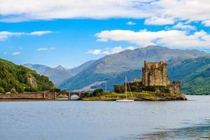 Eilean Donan Castle at western Highlands of Scotland UK photo