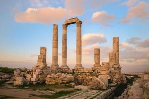 Temple of Hercules on Amman Citadel in Jordan photo