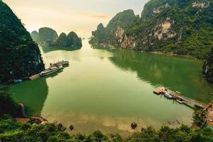 View of Bo Hon island at Halong Bay in Vietnam photo