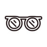 glasses eleagant vintage accessory celebration line style icon vector