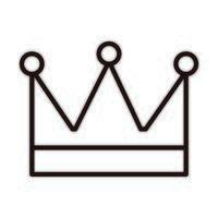 icono de estilo de línea de celebración de decoración de corona de rey vector