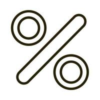 percentage financial business stock market line style icon vector