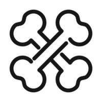 crossed bones medical and health care line style icon vector