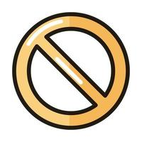prohibited sign internet web technology interface line and fill style icon vector