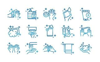 personal hand hygiene disease prevention and health care gradient style icon vector