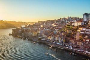Scenery of Porto by Douro River in Portugal photo