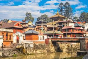 Pashupatinath Temple by Bagmati river at Kathmandu in Nepal photo