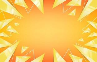 Abstract Geometric Triangle Yellow Background vector