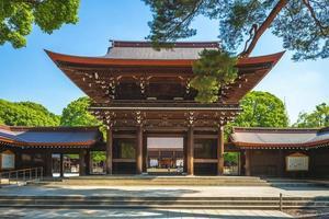 Salón principal del santuario Meiji en Tokio, Japón foto
