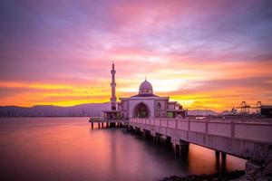 Butterworth Floating Mosque Masjid Terapung at dusk photo