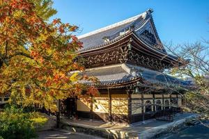nanzen nanzenji o templo zenrinji en kyoto en japón foto