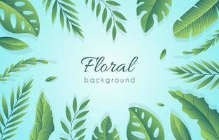 fundamento floral simple vector