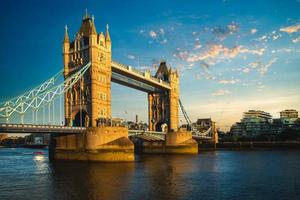 Tower Bridge by River Thames  in London, England, UK photo