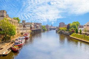 Cityscape of York by the riverbank photo