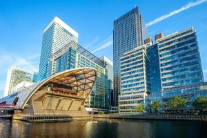 Canary Wharf on the Isle of Dogs in London, UK photo