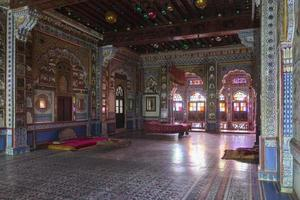 Interior de la fortaleza de Jodhpur en Rajasthan, India foto