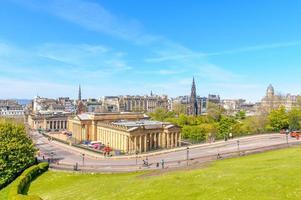 Aerial view of Edinburgh photo