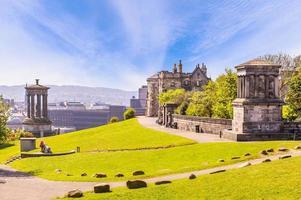Calton hill in Edinburgh, UK photo