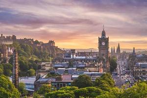 Aerial view from Calton hill, Edinburgh, UK photo