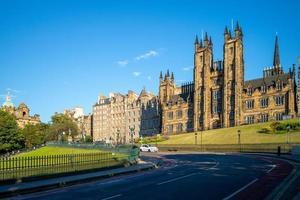 Skyline of Edinburgh at Mound and Assembly Hall photo