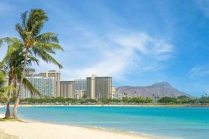 Cityscape of Honolulu on Oahu island, Hawaii, US photo