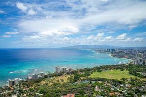 Aerial view of Honolulu on Oahu, Hawaii, US photo
