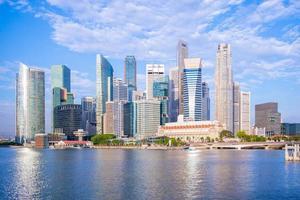 Skyline of Singapore by the Marina bay photo