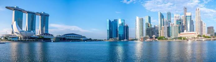 Skyline of Singapore at the Marina bay photo