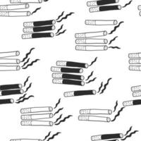 Hand draw cigarettes pattern background for World No Tobacco Day vector