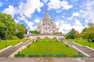 The Basilica of the Sacred Heart of Paris in France photo