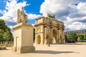 Arc de Triomphe du Carrousel in Paris, France photo