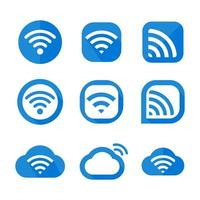 WIFI icon Wireless symbol vector for internet connection from router broadcasting