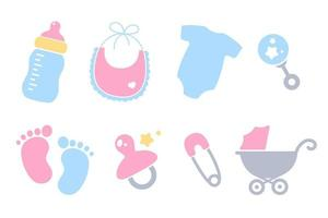 Baby shower vector design Used for raising newborns Isolated on white background