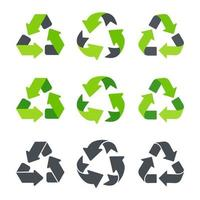 Recycling icon An arrow that revolves endlessly Reuse concept Recycled isolate on white background vector