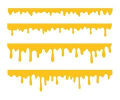 Honey is dripping The thick yellow liquid dripping onto the ground vector