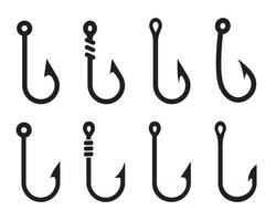 Vector Fishing Hooks For Hanging Lures isolate on white background