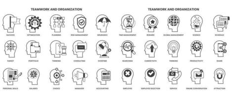 Creativity icons set for business vector