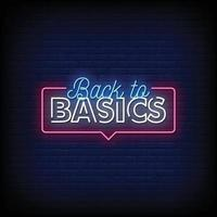 Back to Basic Neon Signs Style Text Vector