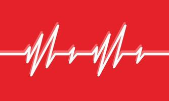 Heartbeat line illustration Pulse trace ECG or EKG Cardio graph symbol for Healthy and Medical Analysis vector illustration