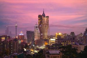 Cityscape of Macau in China photo