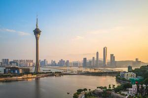 Scenery of Macau at West Bay Lake in China photo