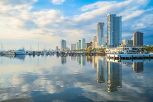 Port of Manila at Manila bay in the Philippines photo