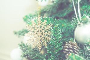 Christmas photo with holiday decorations