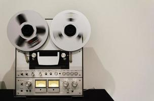 Analog vintage recording tape photo