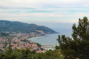 Panorama of the Ligurian coast of Diano marina photo